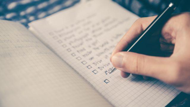 ユーコンノミニーのためののチェックリスト