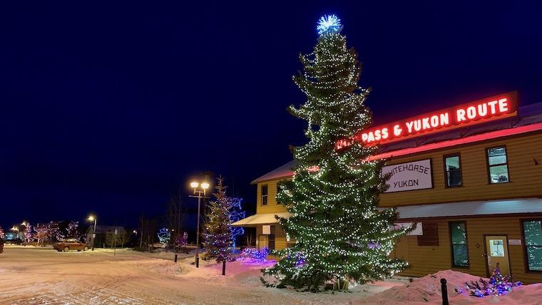 ユーコンニュース クリスマス点灯